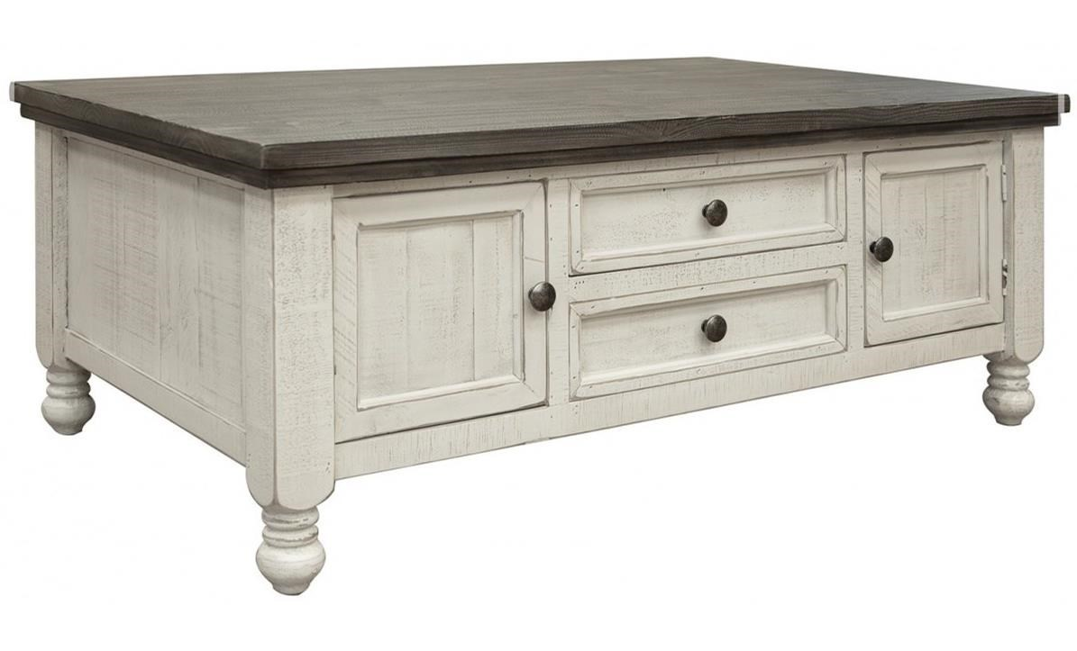 stone relaxed vintage cocktail table with drawers and cabinets by international furniture direct at zak s home
