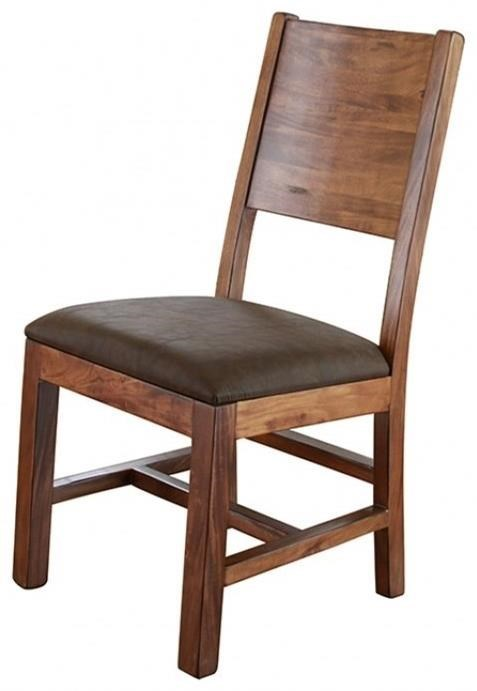 Leather And Wood Chair Parota Chair W Solid Wood Back Faux Leather Seat By International Furniture Direct At Miller Home
