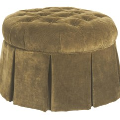 Accent Chairs With Ottomans Patio Chair Webbing Kincaid Furniture Round Skirted Ottoman Adcock Chairsskirted