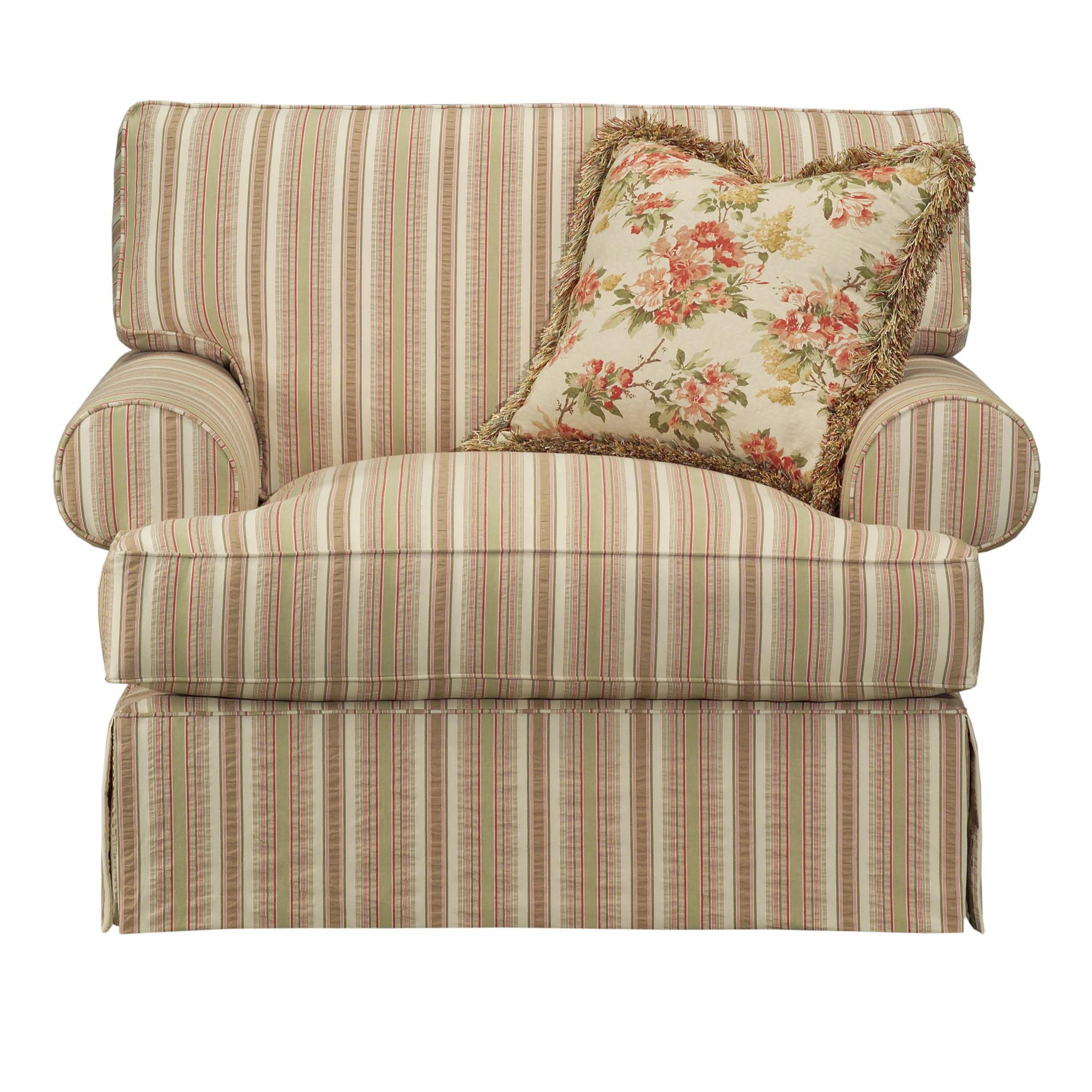oversized upholstered chair cozzia massage kincaid furniture malibu 802 84 skirted becker