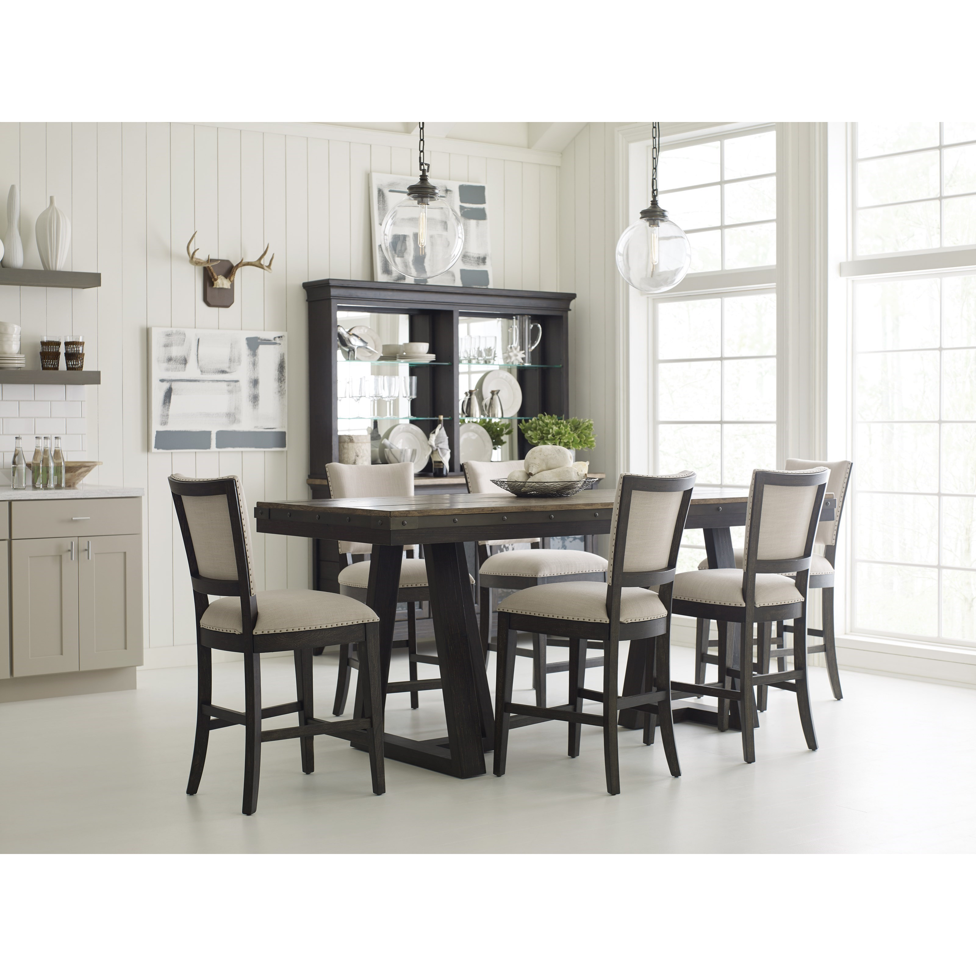 Kincaid Furniture Plank Road Kimler Solid Wood Counter Height Dining Table Belfort Furniture Pub Tables