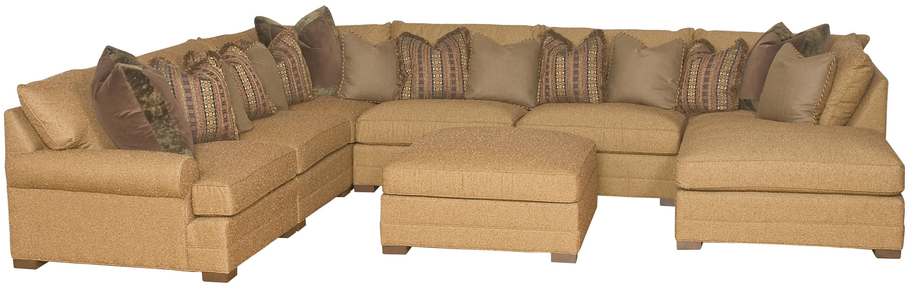 sectional sofa u shaped 3 piece set dimensions king hickory casbah transitional hudson s