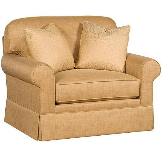 King Hickory Winston Transitional Chair and a Half with