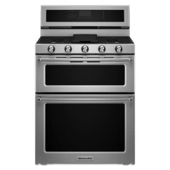 Kitchen Aid Gas Stove Solid Surface Sinks Kitchenaid 30 Inch 5 Burner Double Oven Convection Range By