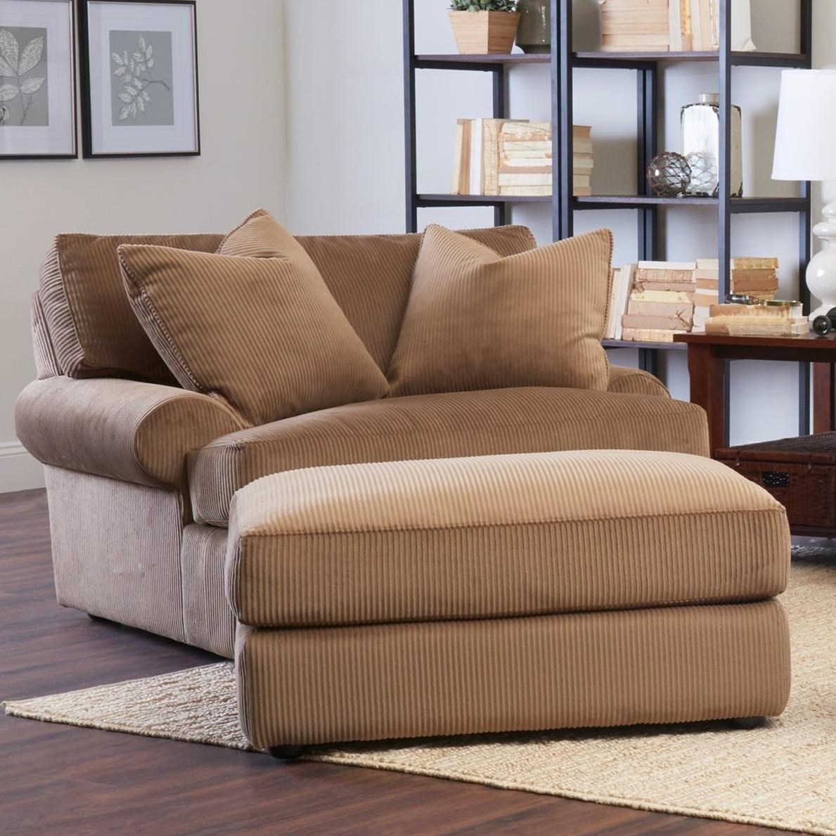 Oversized Chair And Ottoman Set Klaussner Adelyn Oversized Chair And Ottoman Set Hudson S