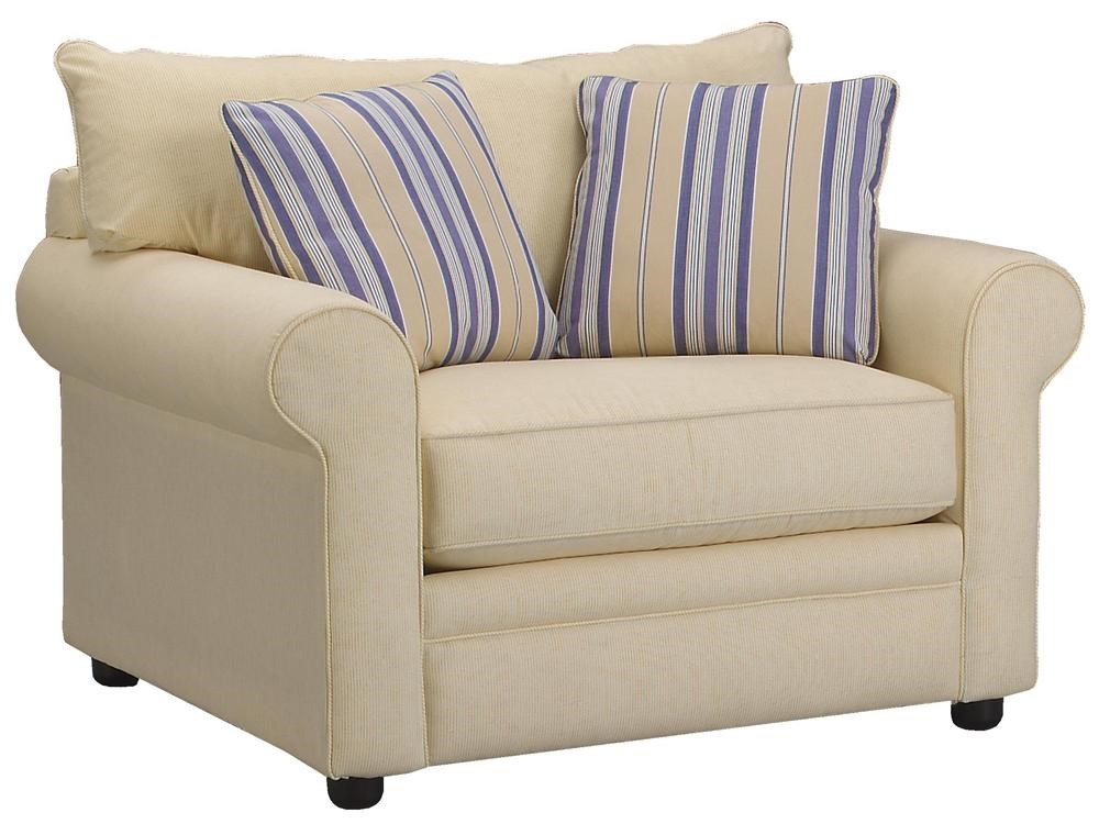 big chair with ottoman the perfect sleep reviews klaussner comfy casual miskelly furniture a half