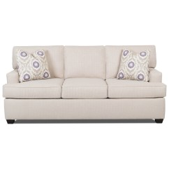Klaussner Sleeper Sofa Mattress Options Microfiber Sectional Sofas With Recliners Cruze Contemporary Track Arms And Queen Sized Enso Memory Foam By