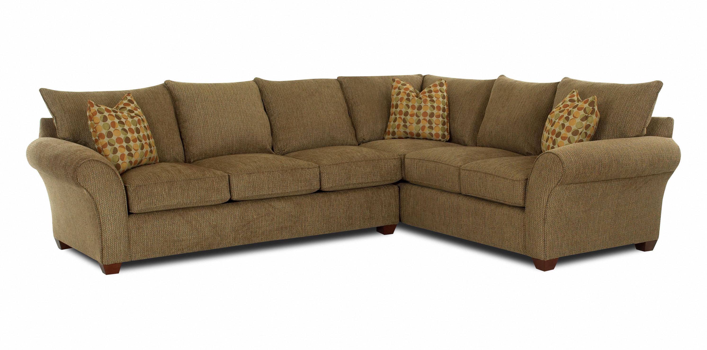 fletcher transitional 2 piece sectional sofa