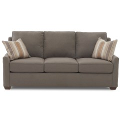 Klaussner Sleeper Sofa Mattress Options Modern Recliner Sets Fulton Contemporary 80 With Enso Memory Foam Fultonenso Queen