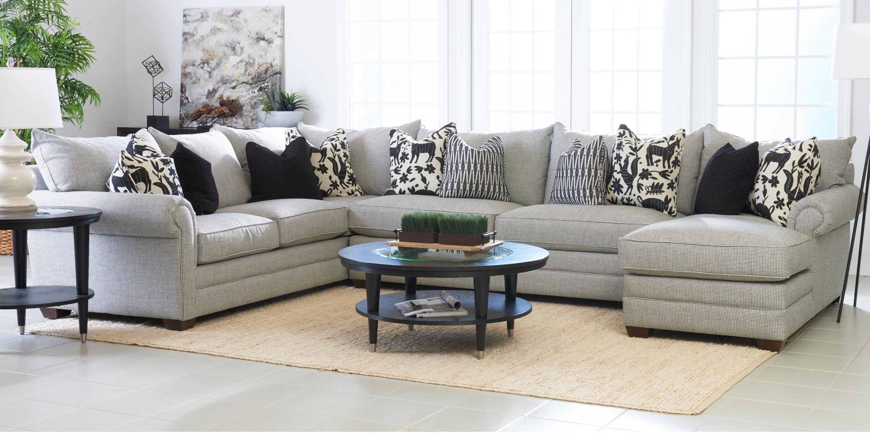 klaussner huntley three piece sectional