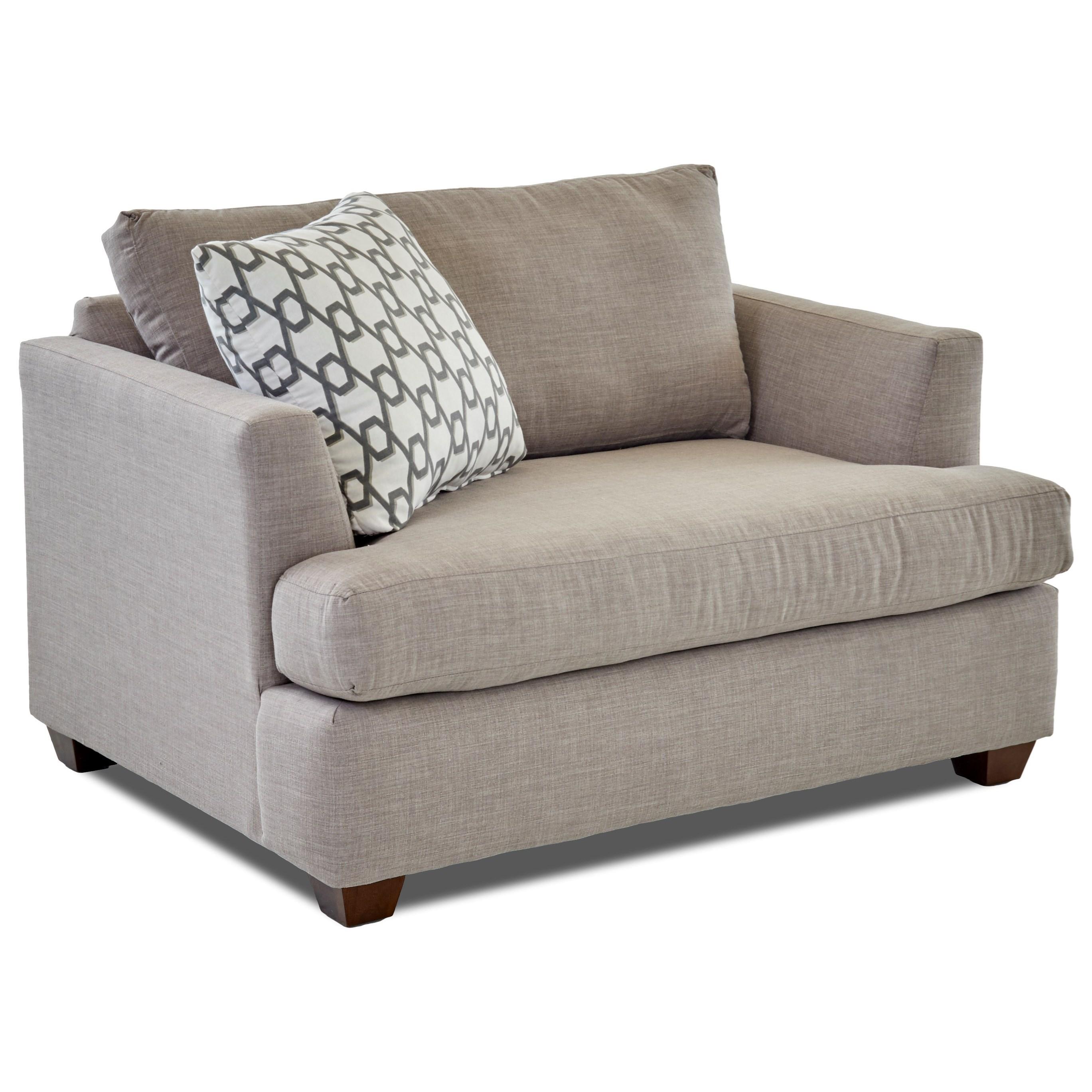 big chair with ottoman disney desk and storage bin klaussner jack set colder s furniture by