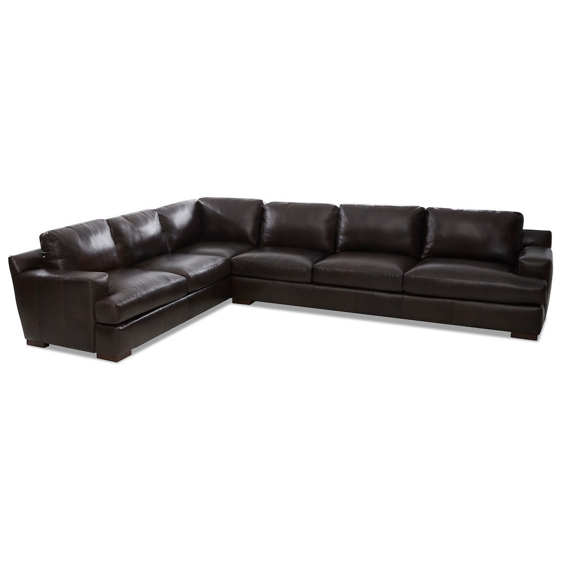 5 seat leather sectional sofa