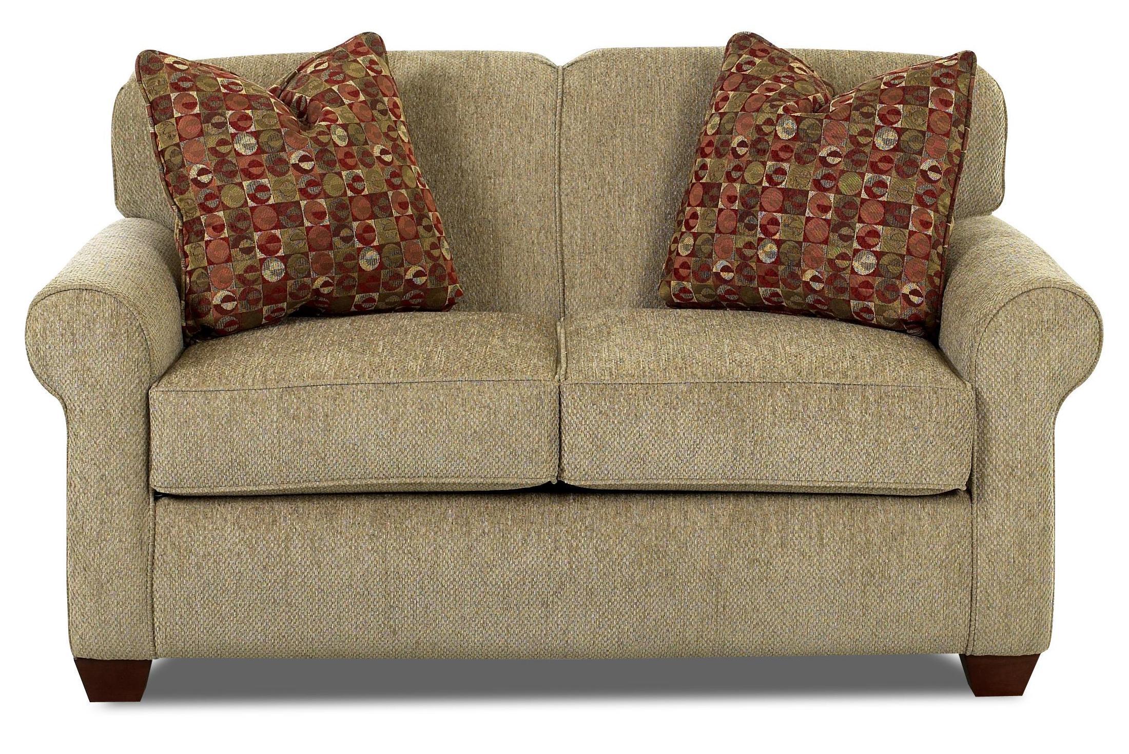 twin chair sleeper sofa ebay wing covers klaussner mayhew 97900 etsl oversized with enso memory foam mattress by