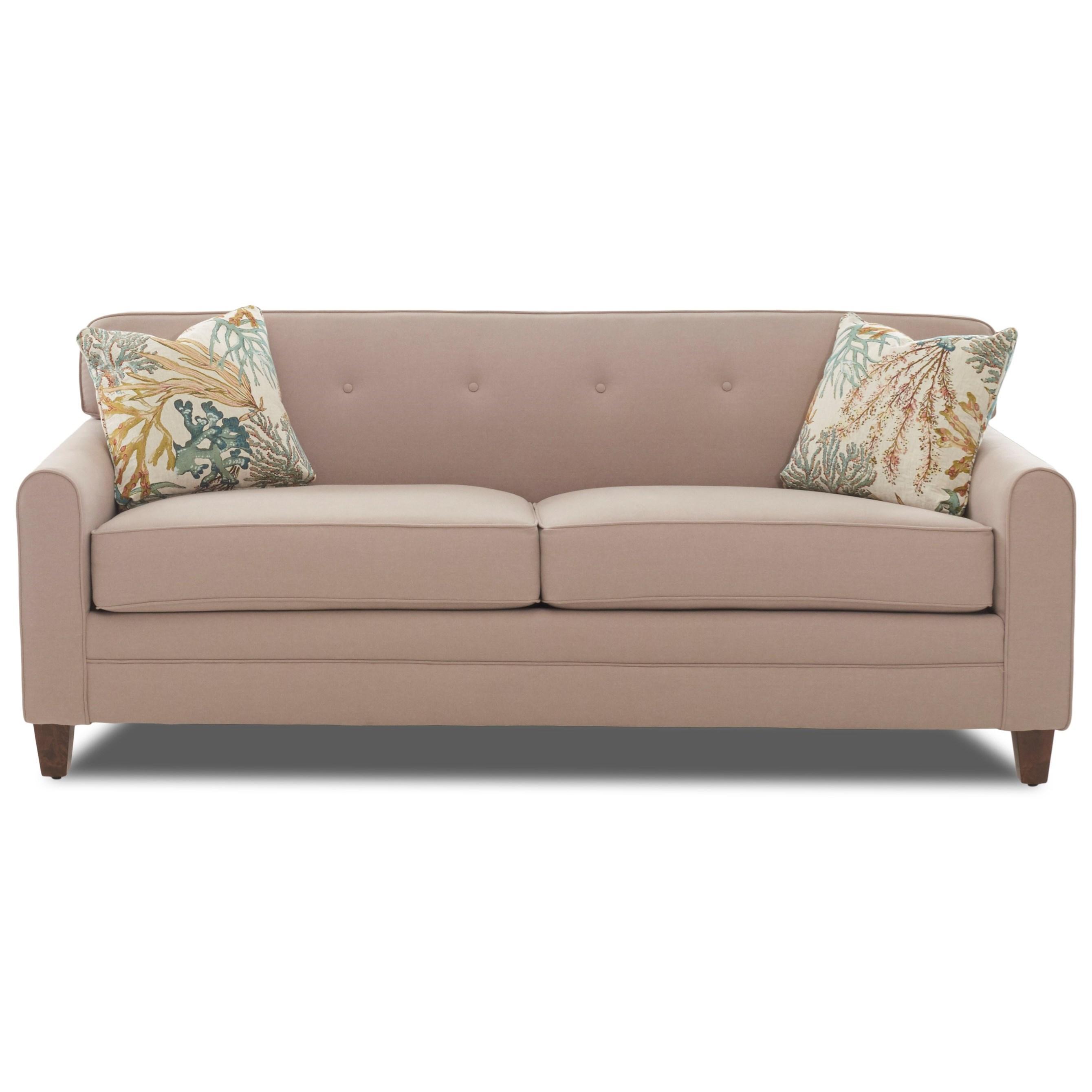 queen sleeper sofa memory foam mattress kmart inflatable bed elliston place peyton mid century modern with enso peytonenso