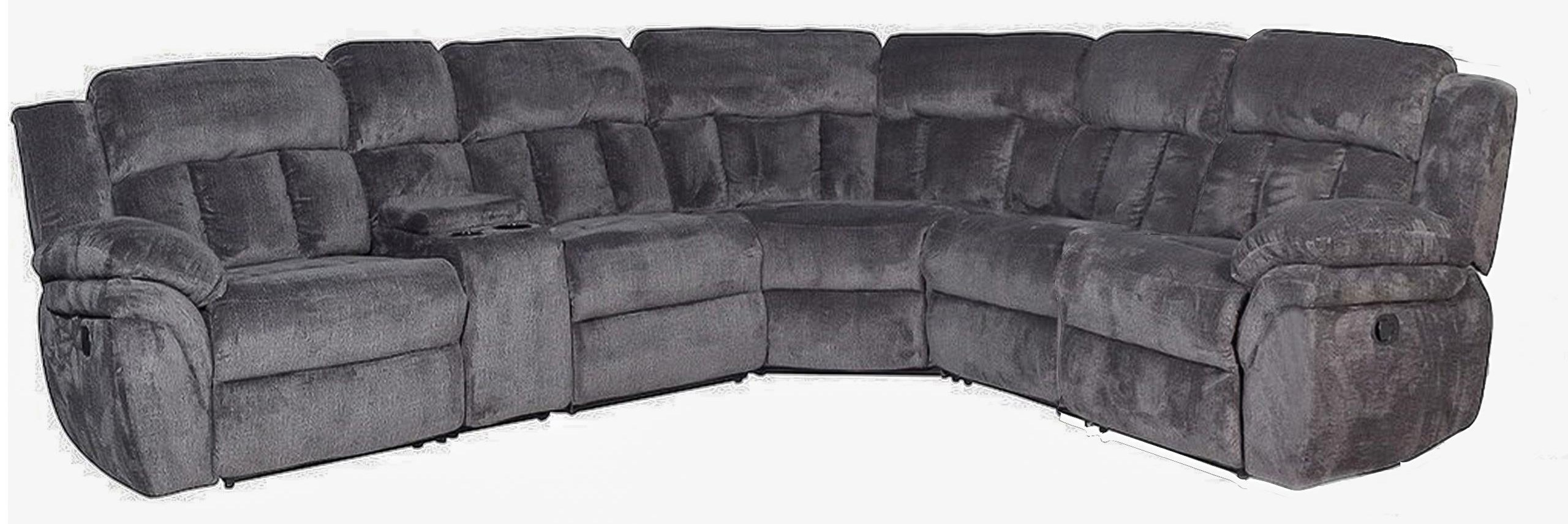 mccobb 4 seat reclining sectional sofa with 1 cup holder and storage by klaussner international at beck s furniture