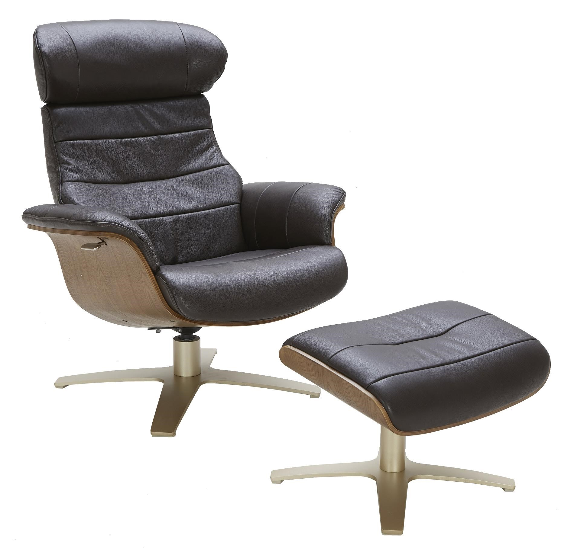 Evolution Chair Karma Leather Lean Back Swivel Chair And Ottoman By Urban Evolution At Belfort Furniture