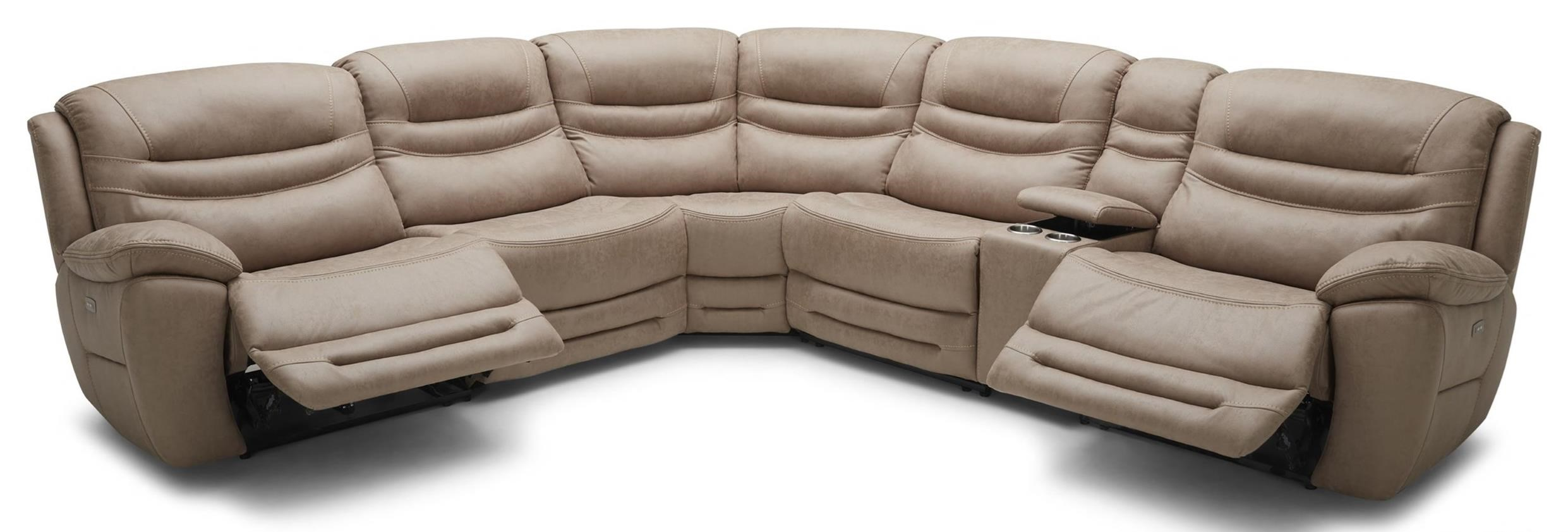 km083 6 pc reclining sectional sofa