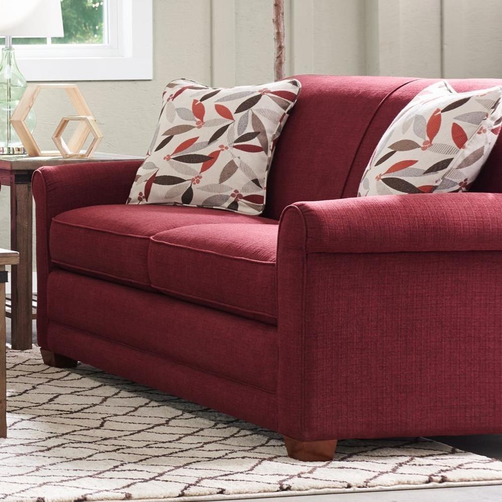 apt size sectional sofas for apartment la z boy amanda casual sofa with premier comfortcore cushions