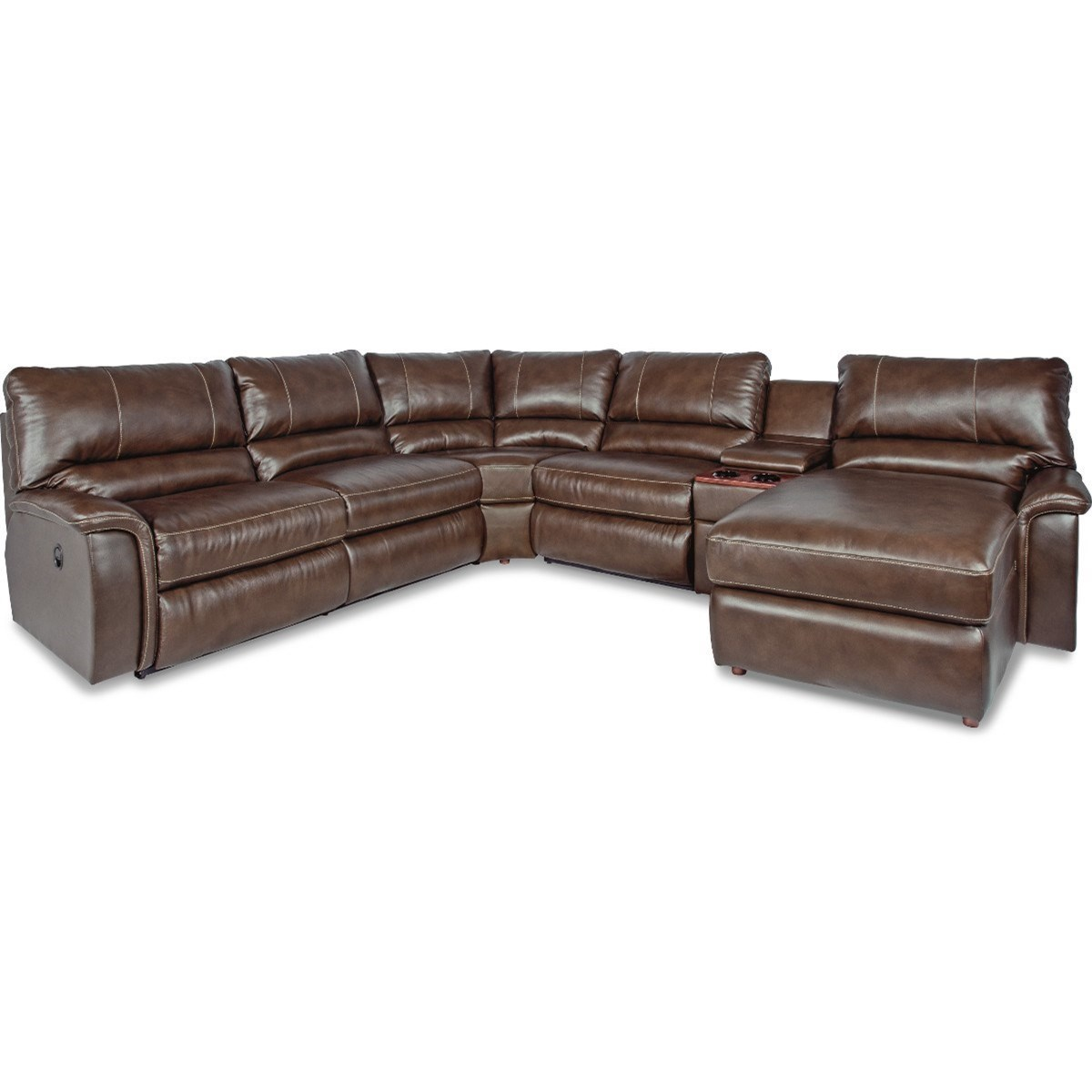 sectional sofas with recliners and bed colorado springs la z boy aspen six piece reclining sofa right arm chaise cupholders