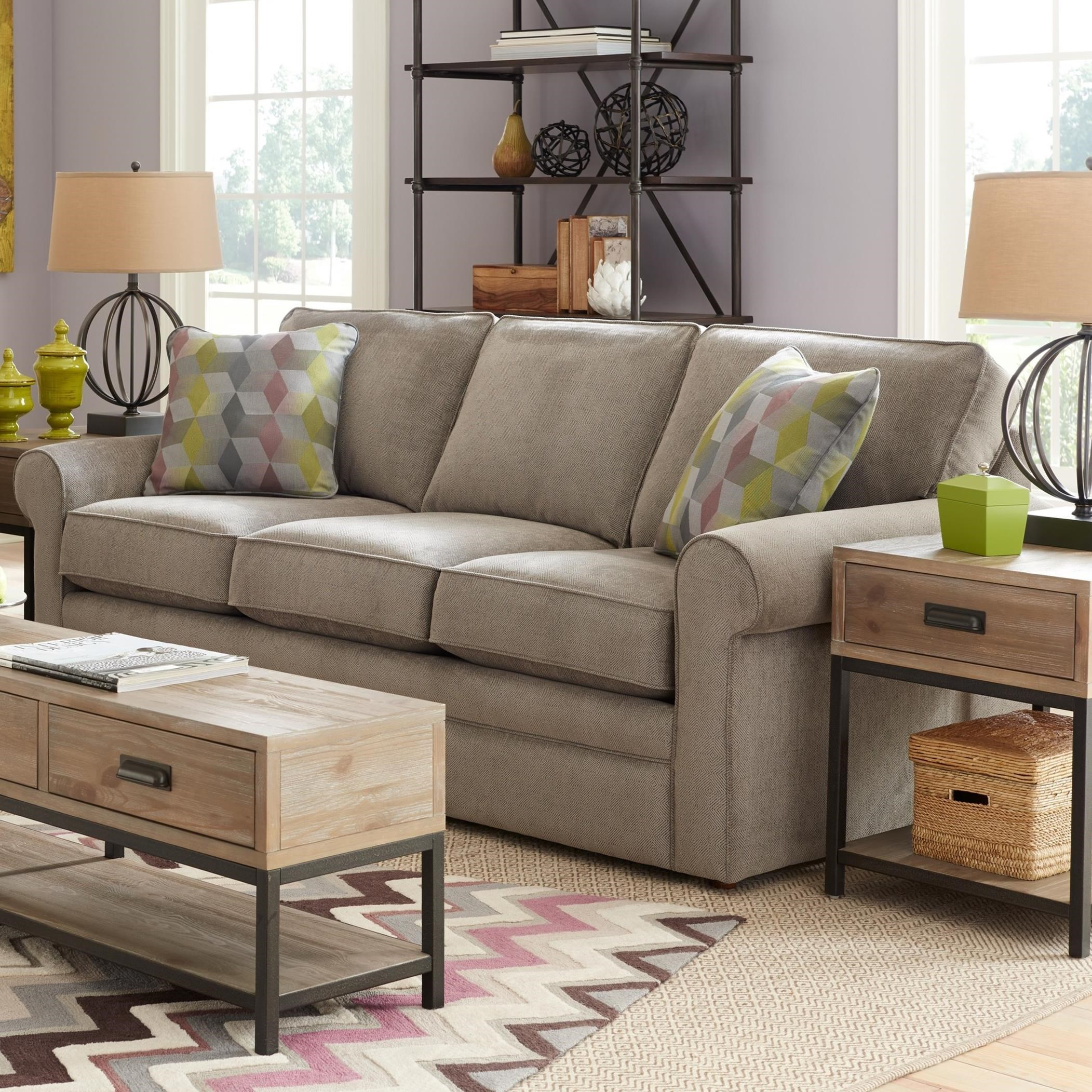 lazy boy leather living room furniture how to decorate a small apt la z collins sofa with rolled arms reid s sofas