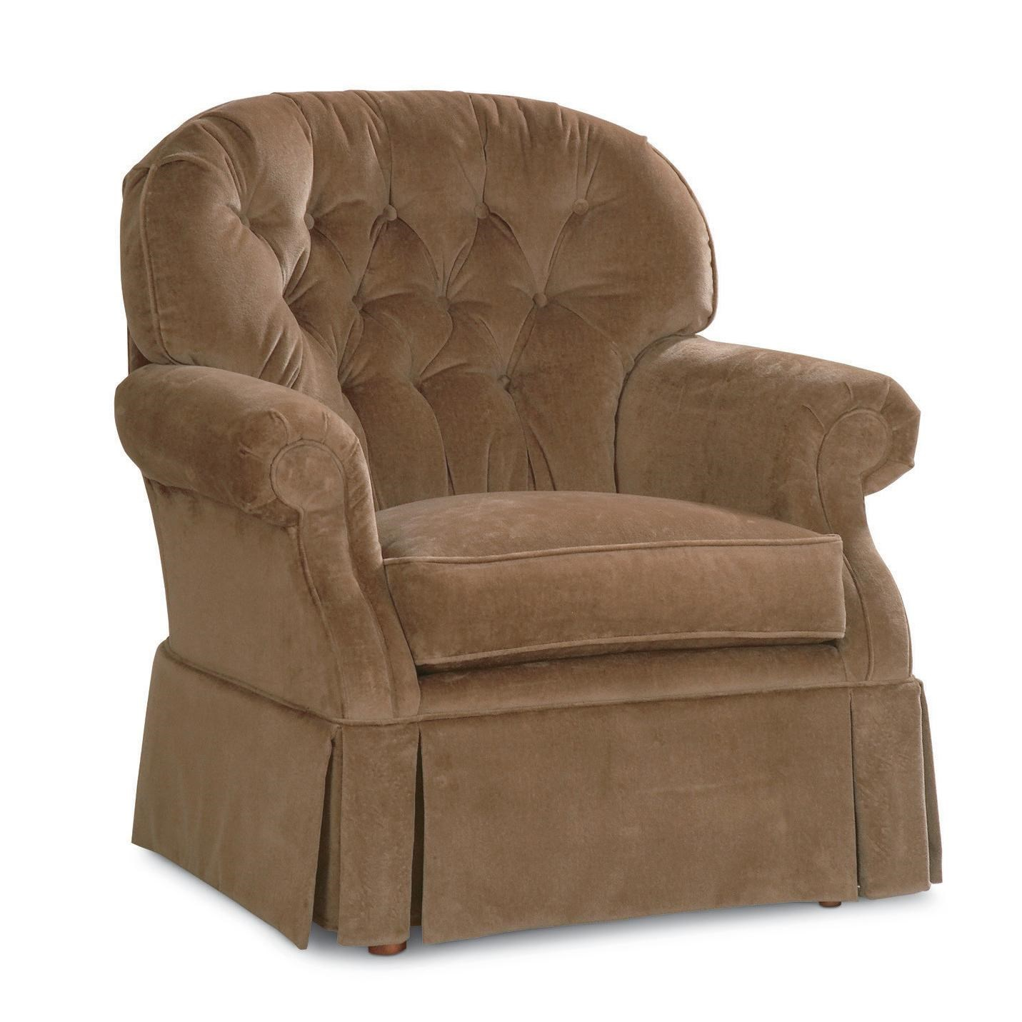 Lazy Boy Swivel Chair La Z Boy Hampden Traditional Swivel Rocker With Tufted Back And