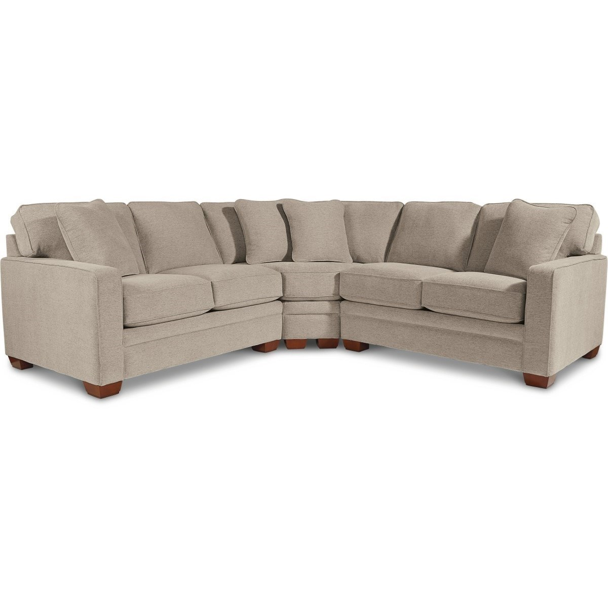 3 piece sectional with wedge