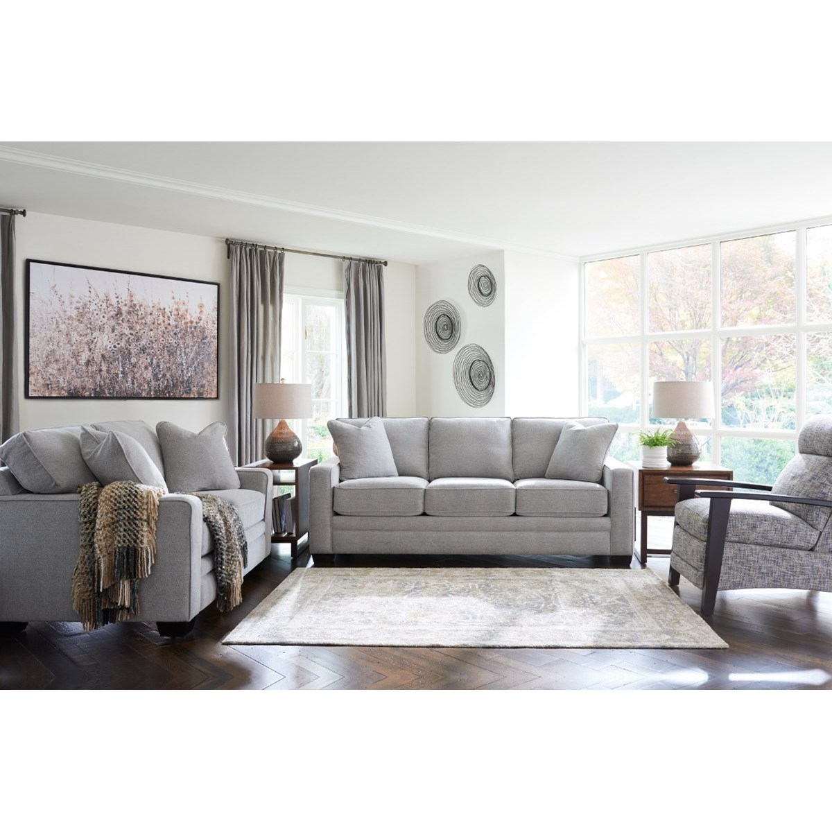 lazy boy living room formal with brick fireplace la z meyer group bennett s home furnishings