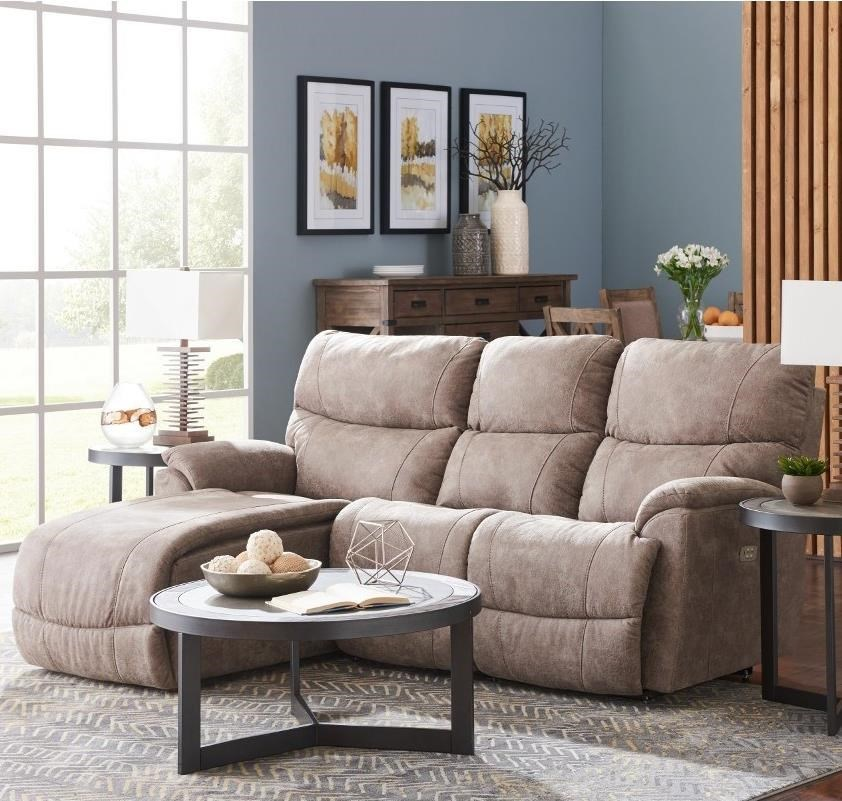 sectional sofas recliners sofa sleeper mattress protector la z boy trouper two piece reclining with right sitting tilt back chaise