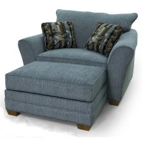 Lancer 90 Contemporary Chair & 1/2 and Ottoman - Wayside ...