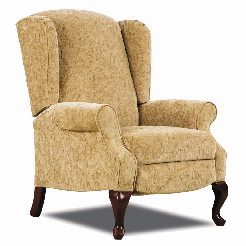 Wingback Recliner Chair Hi Leg Recliners Traditional Heathgate Hileg Recliner With Wing Back Sides And Queen Anne Legs By Lane At Rune S Furniture