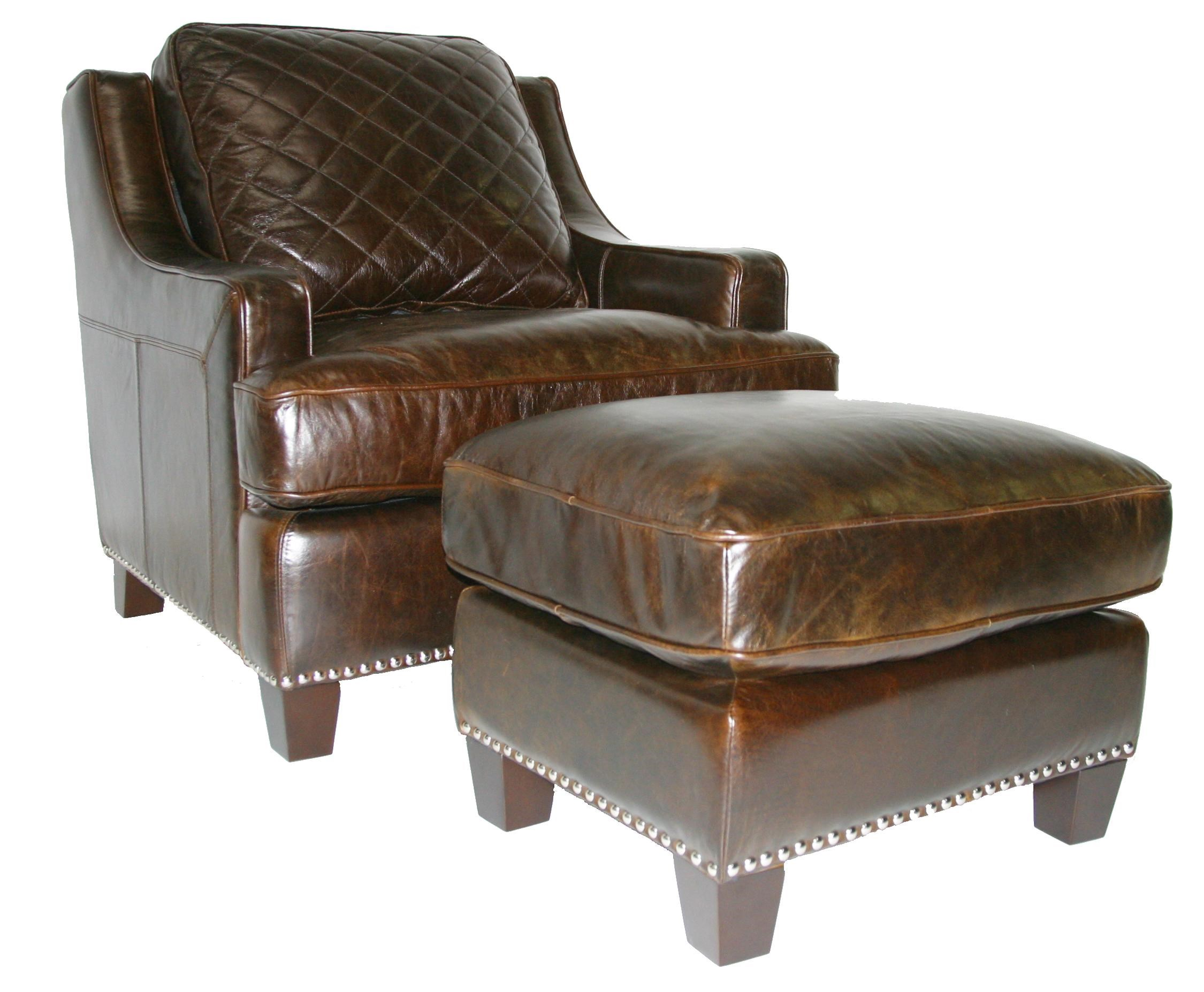 leather chair ottoman set rail height italia usa provo stitched