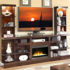 Home Entertainment Fireplace Living Room Furniture Modern Legends Novella Center With And Bookcase Piers By
