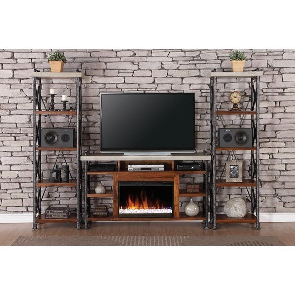 home entertainment fireplace living room furniture pinterest curtains legends steampunk collection industrial unit with 15 shelves boulevard furnishings wall