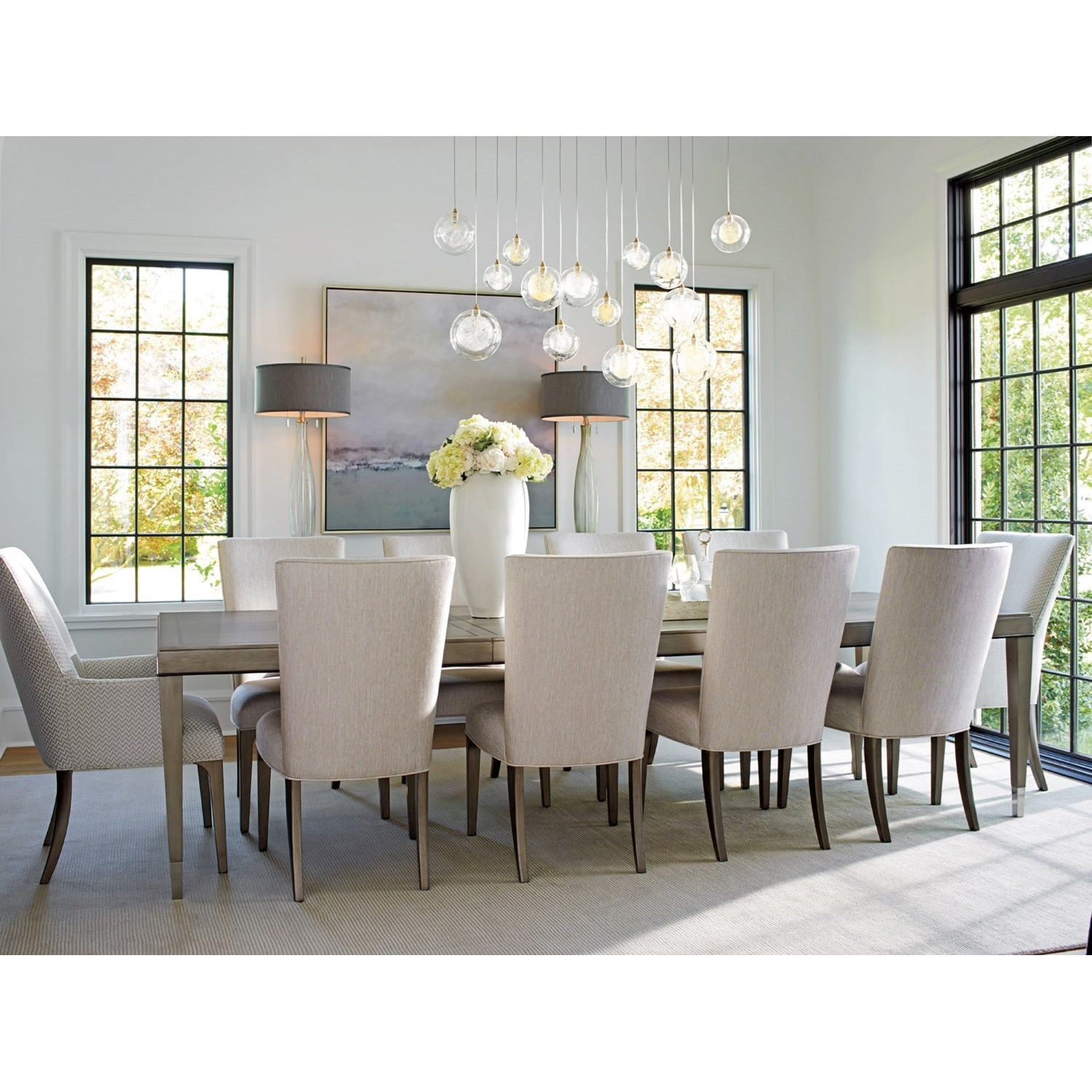 lexington dining chairs computer chair accessories ariana eleven piece set with chateau table and ariana11 pc