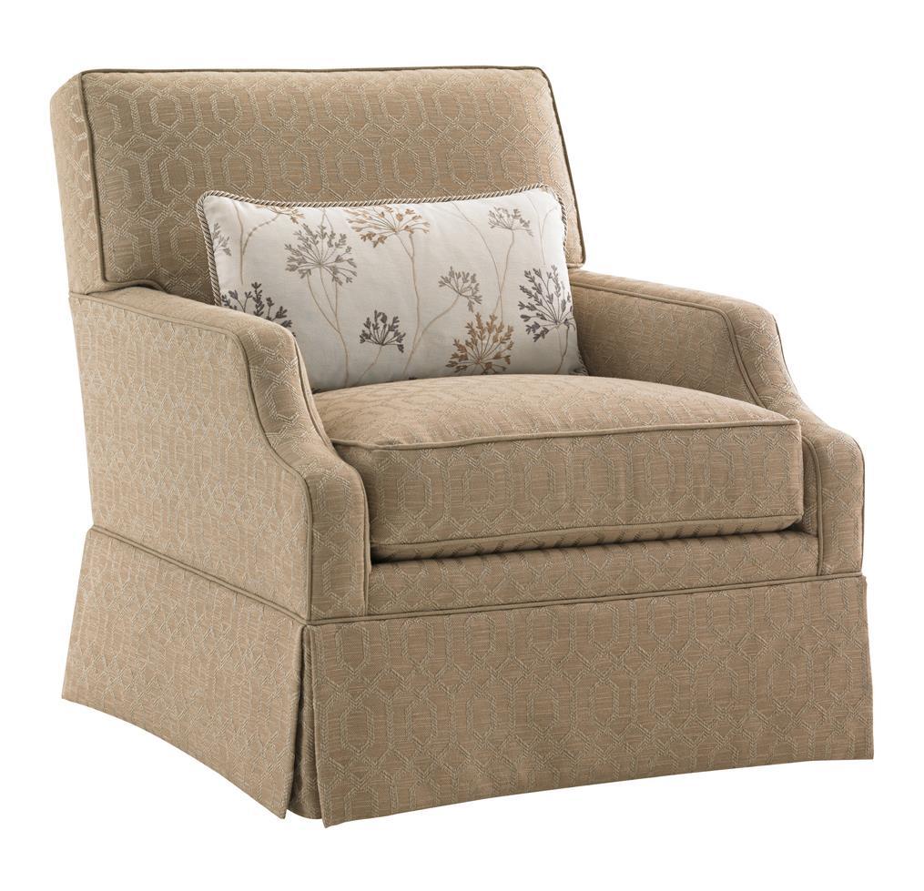 kendrick sleeper chair and a half outdoor chairs walmart lexington kensington place transitional courtney skirted swivel