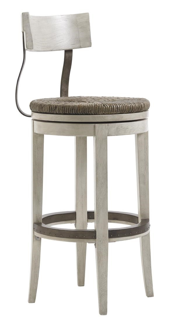 Swivel Bar Chairs Oyster Bay Merrick Swivel Bar Stool With Rush Seat By Lexington At Hudson S Furniture