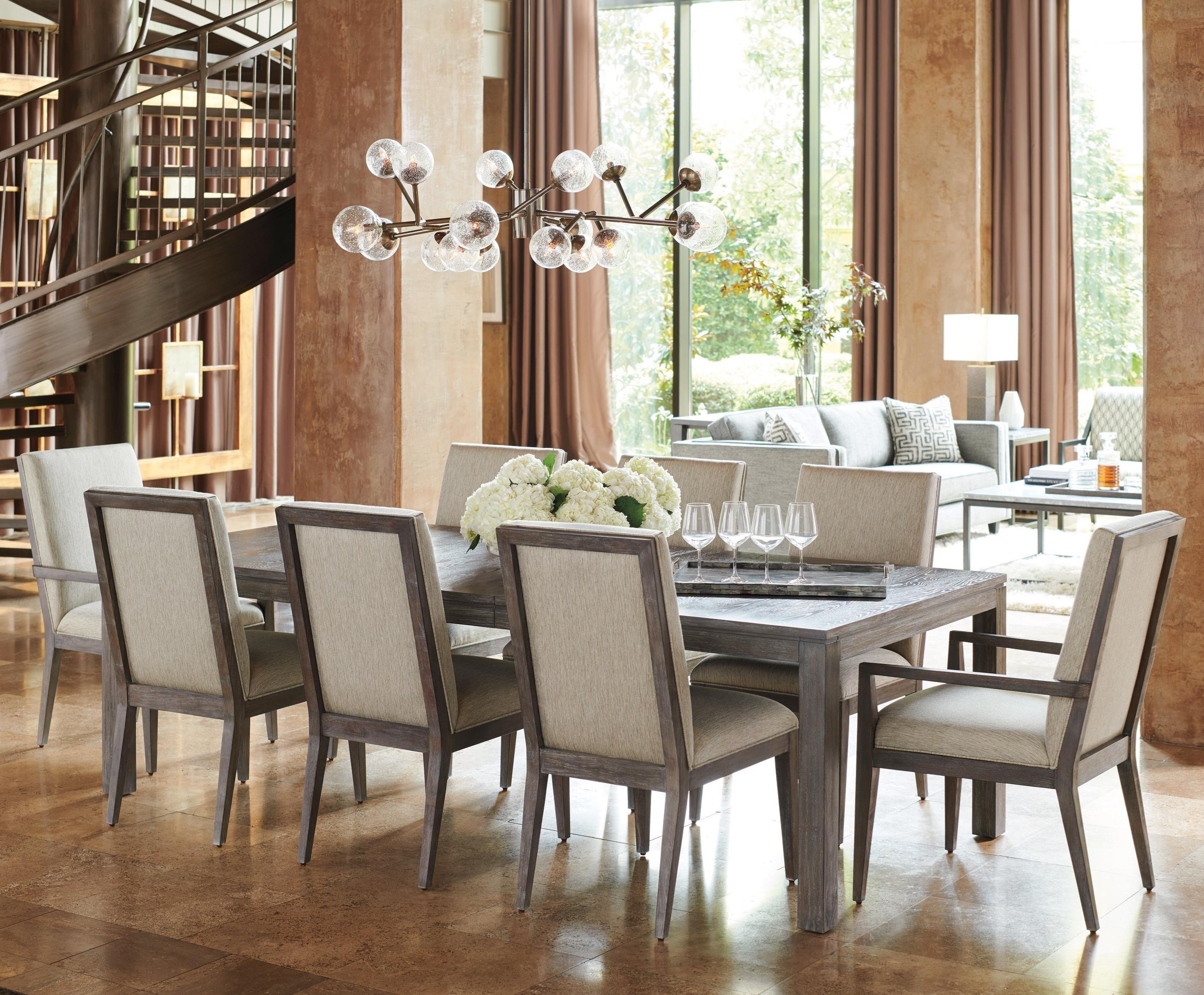 lexington dining chairs recording studio chair santana nine piece set with marin table hudson s santana9 pc