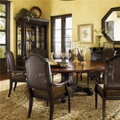 King Furniture Dining Chairs Used Wedding Chair Covers For Sale Party Tommy Bahama Home Kingstown Bonaire Set With 6 Kingstownbonaire