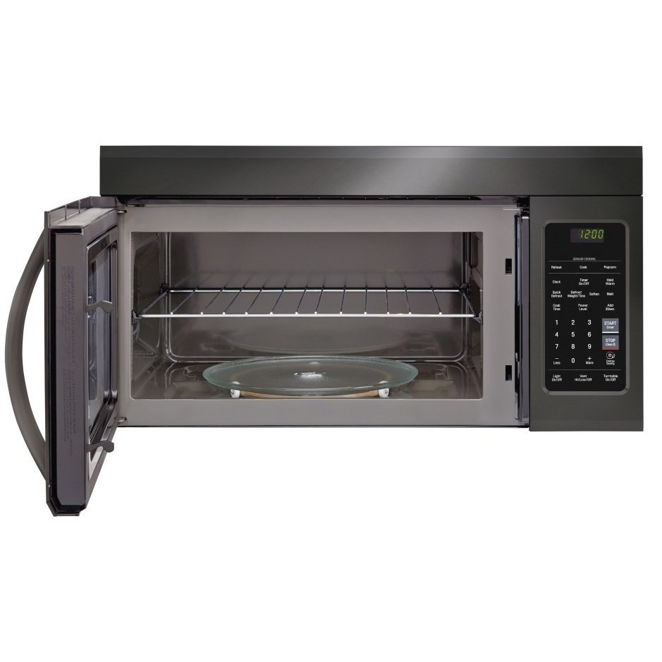 microwaves lg 1 8 cu ft over the range microwave oven easyclean by lg appliances at furniture and appliancemart