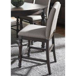Upholstered Counter Height Chairs Chair That Makes Into A Bed Catawba Hills Dining Side With Turned Legs