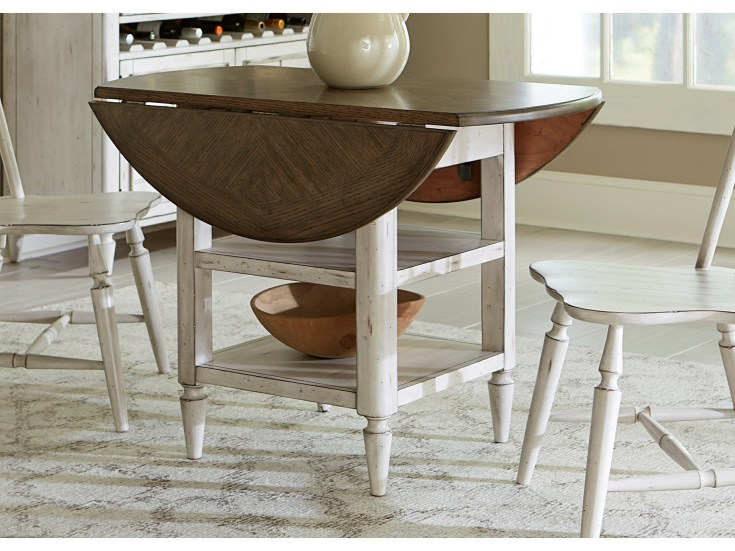 oak hill dining drop leaf table with storage | rotmans | kitchen table