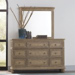 Liberty Furniture The Laurels Relaxed Vintage Solid Wood Dresser And Mirror Set Howell Furniture Dresser Mirror Sets