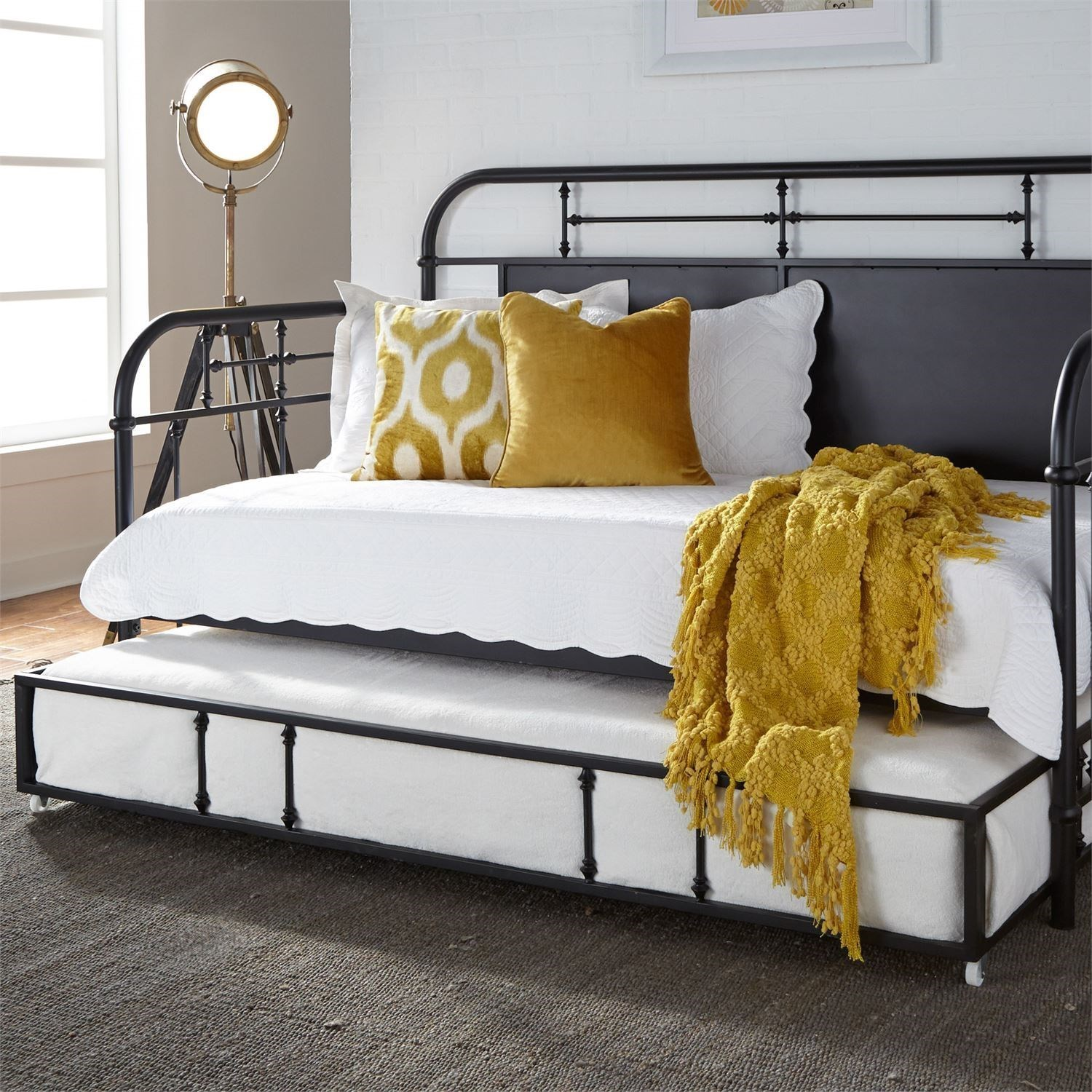 Liberty Furniture Vintage Series Twin Metal Trundle Daybed With Turned Spindles Howell Furniture Daybeds