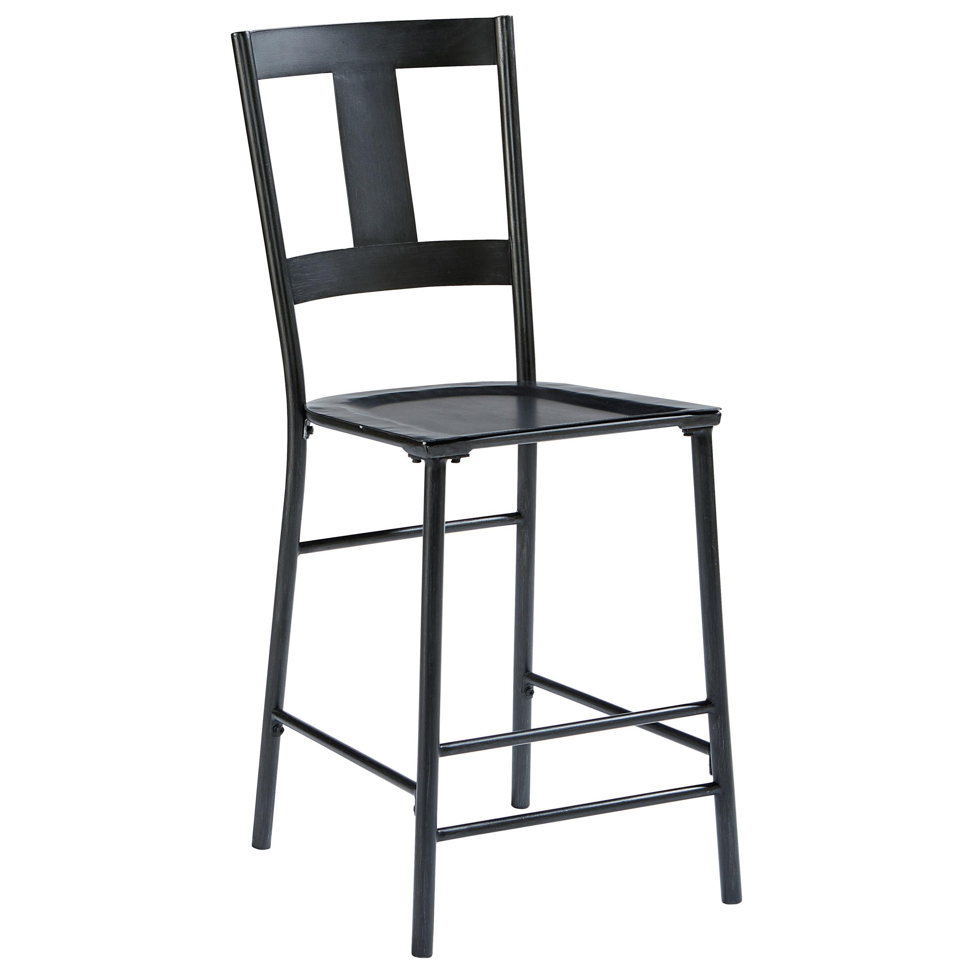 industrial metal chairs white wingback chair slipcovers magnolia home by joanna gaines and wood barstool with carbon finish