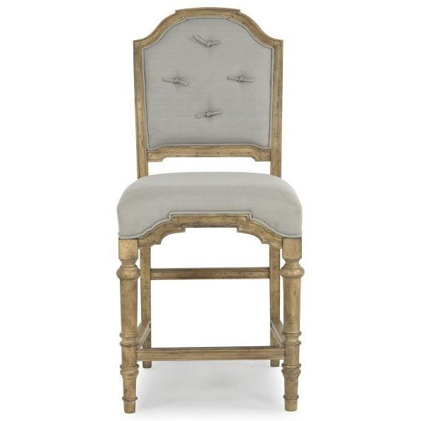 upholstered counter height chair covers for weddings northern ireland magnussen home graham hills stool with tufted back by