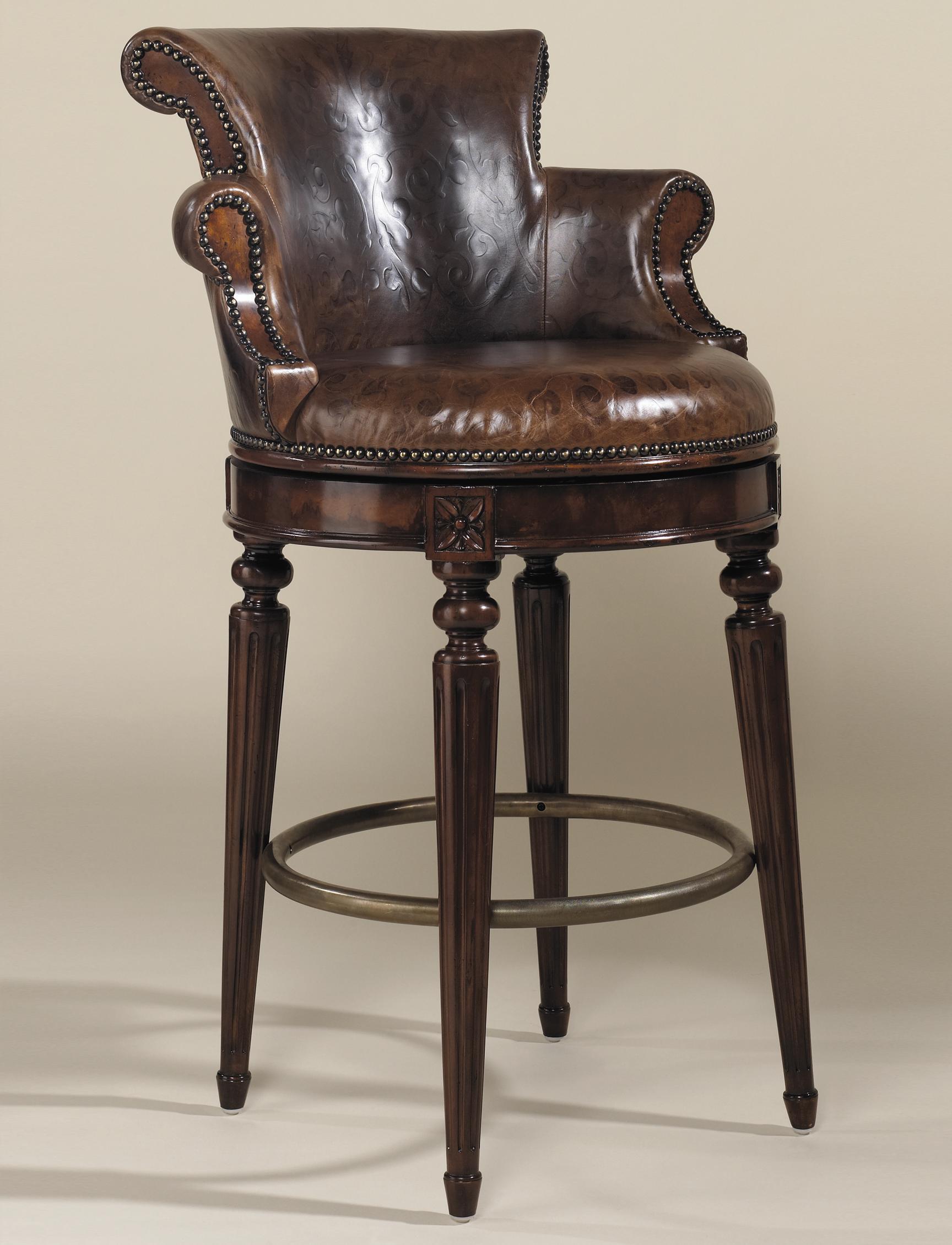 swivel chair regal hobby lobby table and chairs maitland smith bar stools aged regency finished mahogany stoolsmahogany barstool