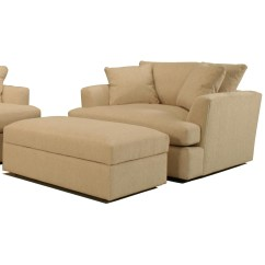 Chair And A Half With Storage Ottoman Twin Size Futon Bemodern Cirrus Casual Contemporary Rectangular