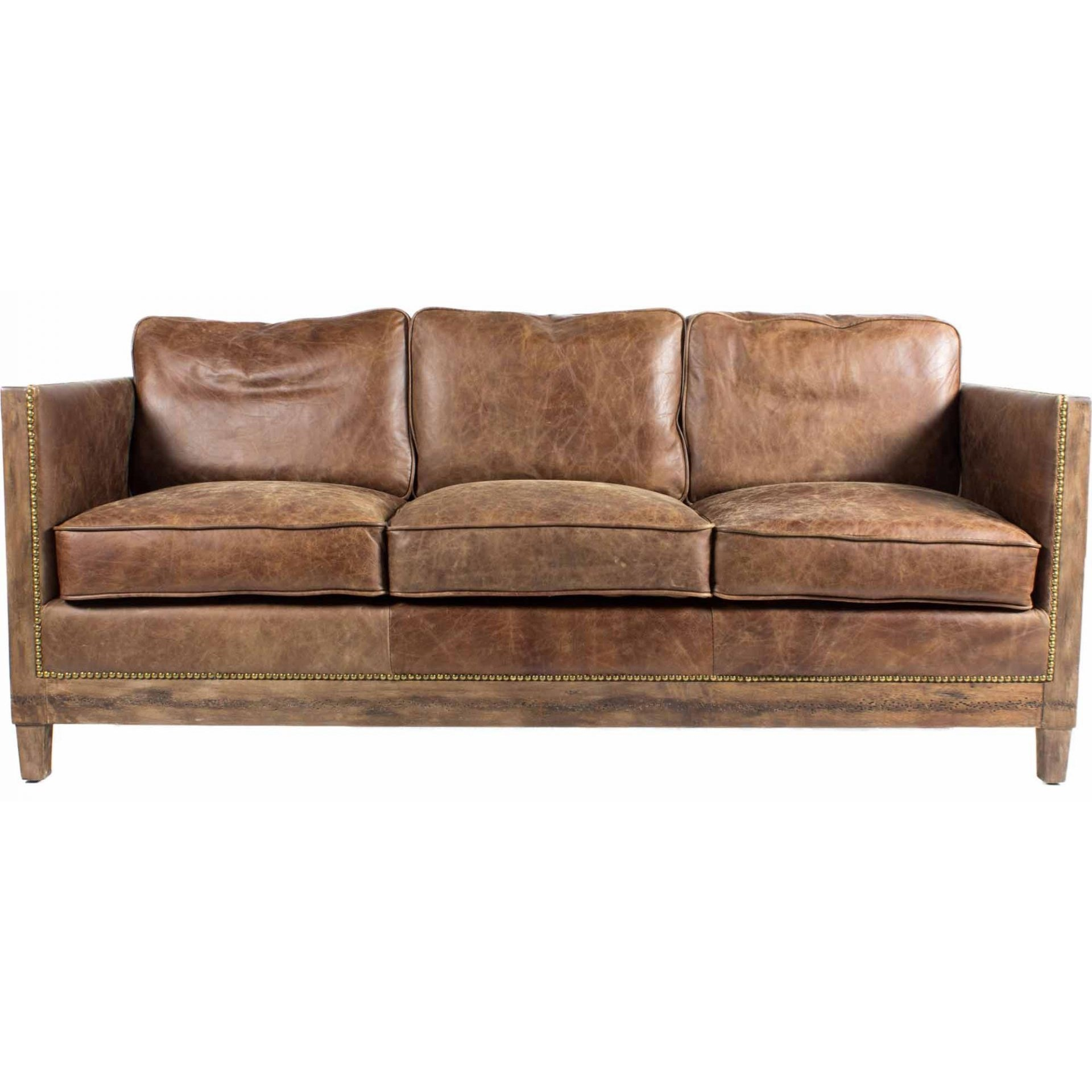 wood frame leather sofas ashley furniture kinlock charcoal sofa moe s home collection darlington with exposed