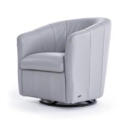 Natuzzi Swivel Chair And A Half Lazy Boy Editions A835 066 10bzsp Lt Contemporary Barrel Natuzziswivel