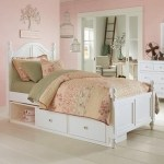 Ne Kids Lake House Twin Bed With Arched Headboard And Underneath Storage Wayside Furniture Panel Beds